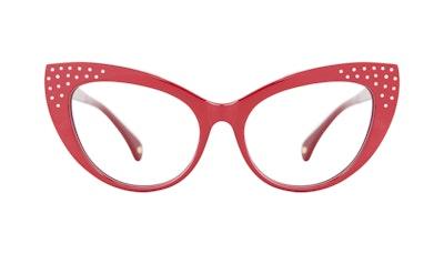 Affordable Fashion Glasses Cat Eye Daring Cateye Eyeglasses Women Keiko Amanda Red Front