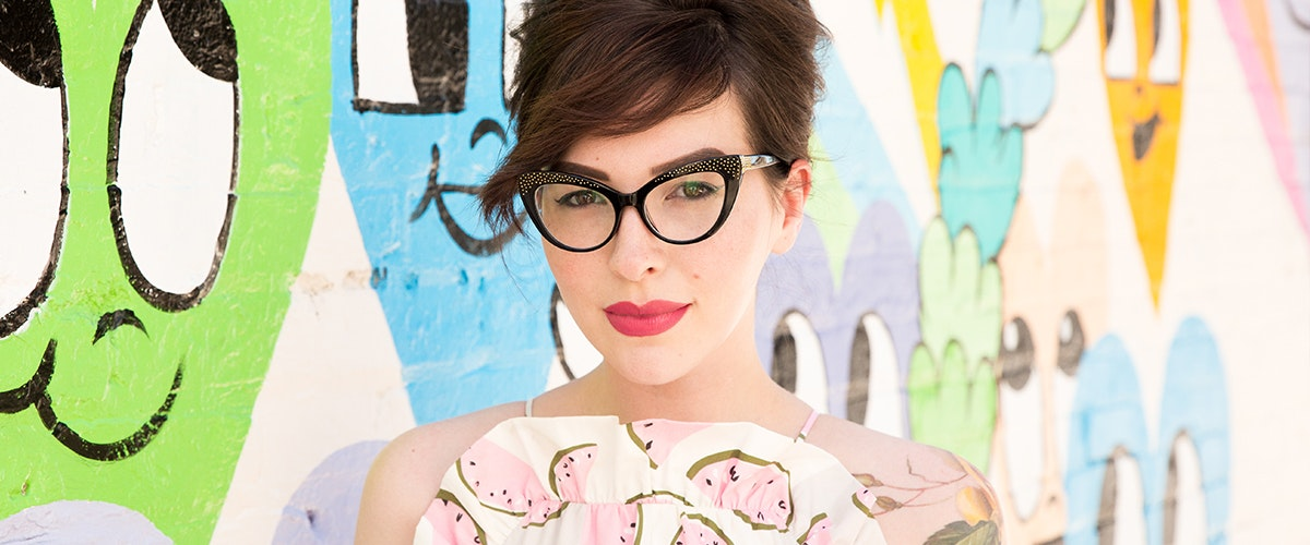 Lunettes tendance Oeil de chat Daring Cateye Lunettes de vue Femmes Keiko Roxy Noir