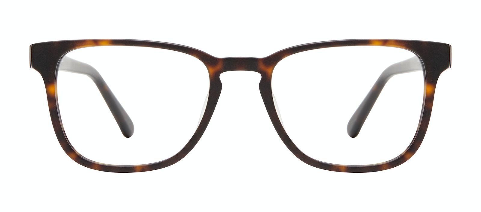 Affordable Fashion Glasses Square Eyeglasses Men Kim XL Matte Tortoise Front