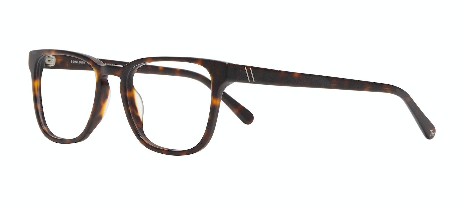 Affordable Fashion Glasses Square Eyeglasses Men Kim XL Matte Tortoise Tilt