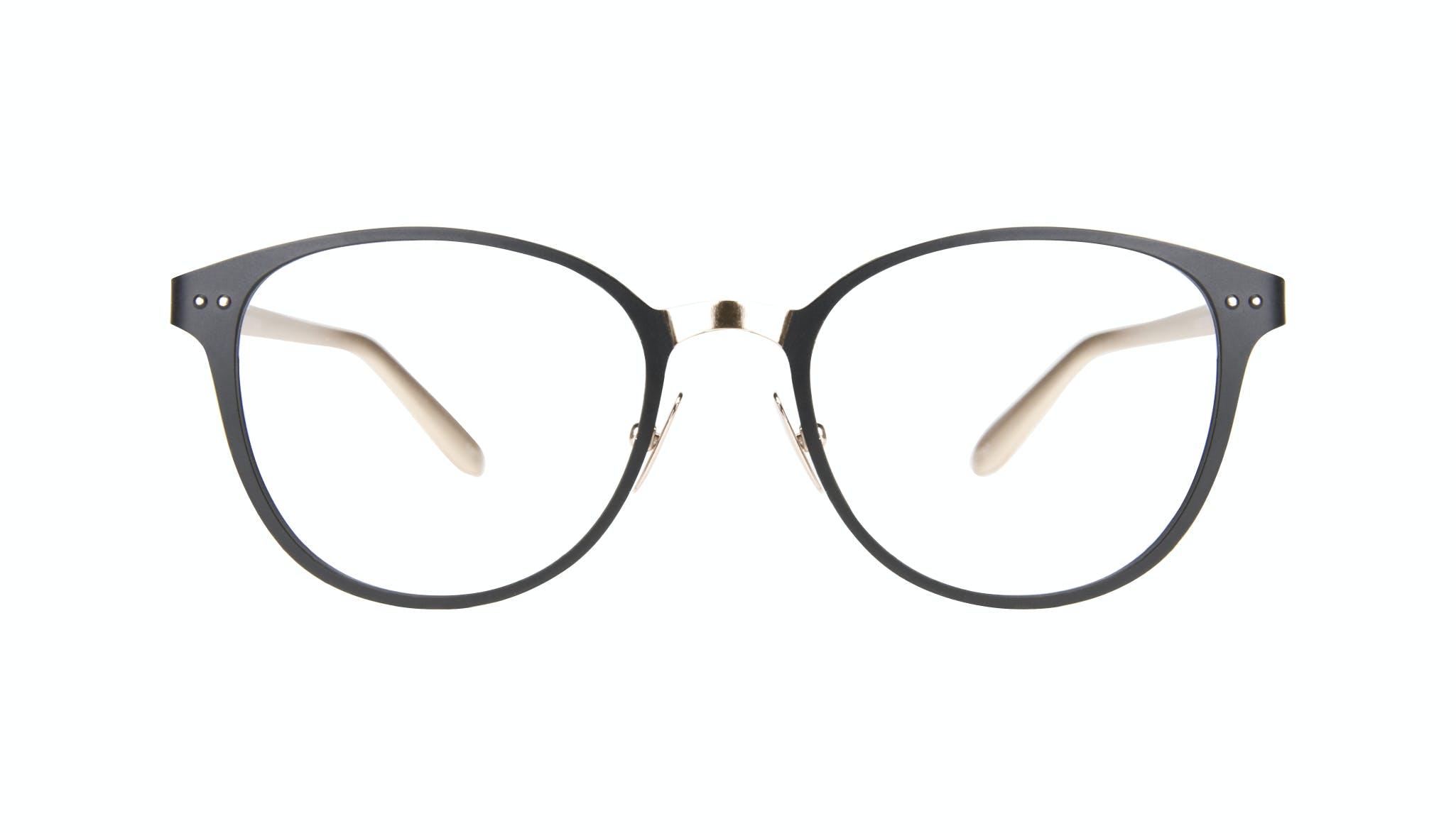 Affordable Fashion Glasses Rectangle Eyeglasses Women Kind Deep Gold Front