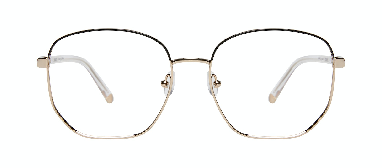 Affordable Fashion Glasses Round Eyeglasses Women Laïka Deep Gold Front