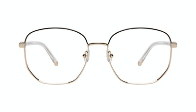 Affordable Fashion Glasses Round Eyeglasses Women Laïka Deep Gold Front