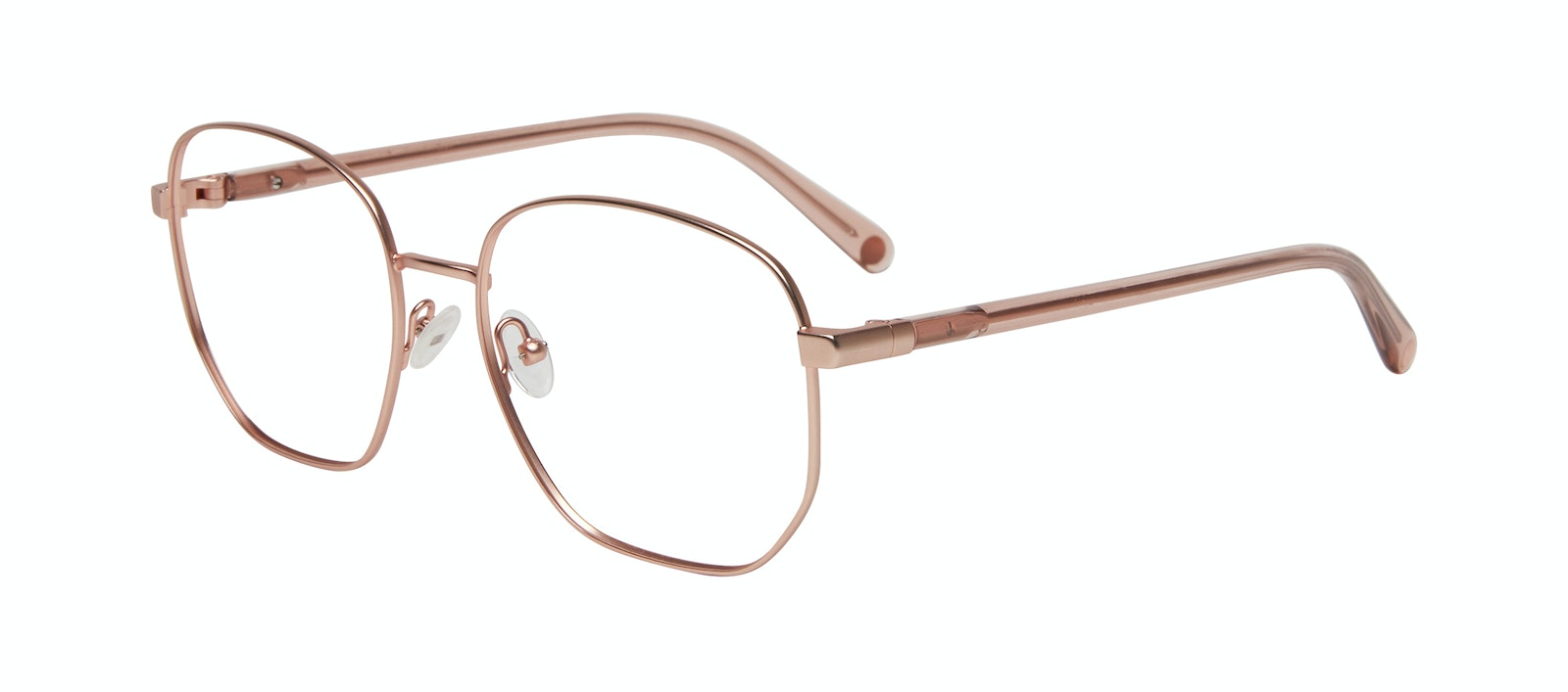 Affordable Fashion Glasses Round Eyeglasses Women Laïka Rose Gold Matte Tilt