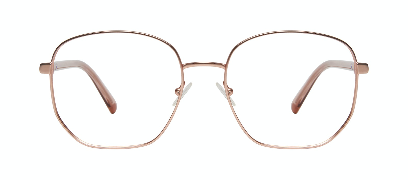 Affordable Fashion Glasses Round Eyeglasses Women Laïka Rose Gold Matte Front
