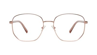Affordable Fashion Glasses Round Eyeglasses Women Laïka Rose Gold Matte Front