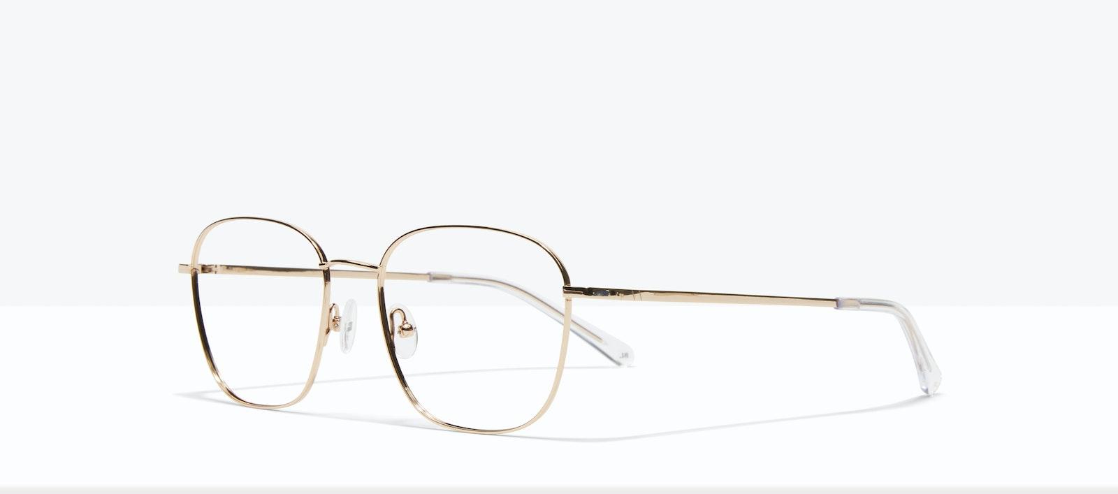 Affordable Fashion Glasses Square Eyeglasses Women Lane Gold Tilt