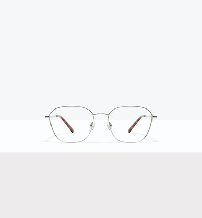 Affordable Fashion Glasses Square Eyeglasses Women Lane Platinum Front