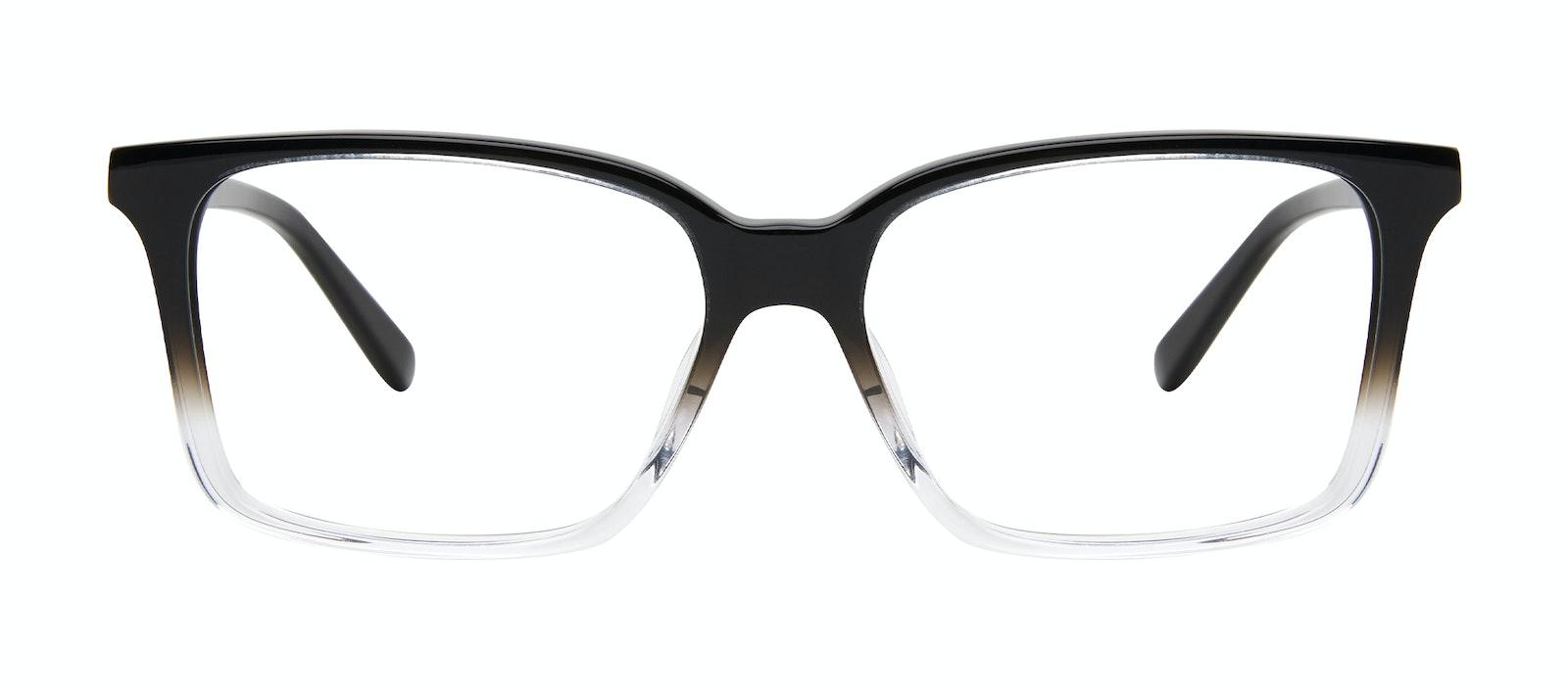 Affordable Fashion Glasses Square Eyeglasses Men Lapel XL Onyx Clear Front