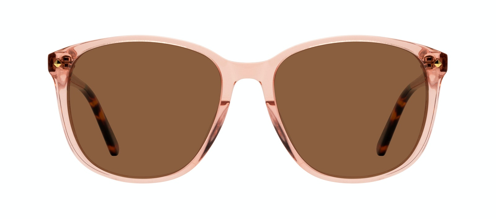 Affordable Fashion Glasses Square Sunglasses Women Lauren Peach Front