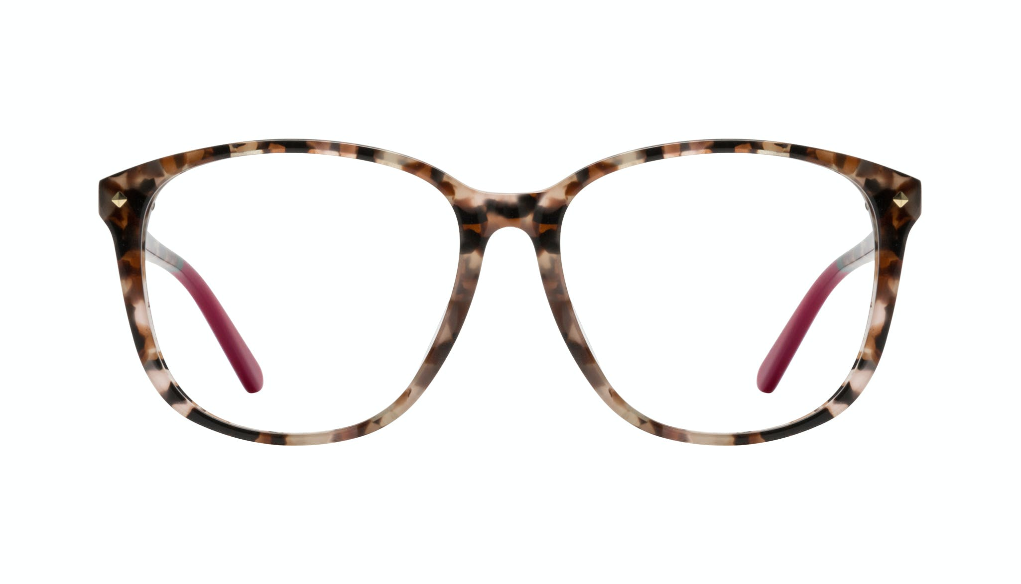 Affordable Fashion Glasses Square Eyeglasses Women Lauren Pink Tortoise Front