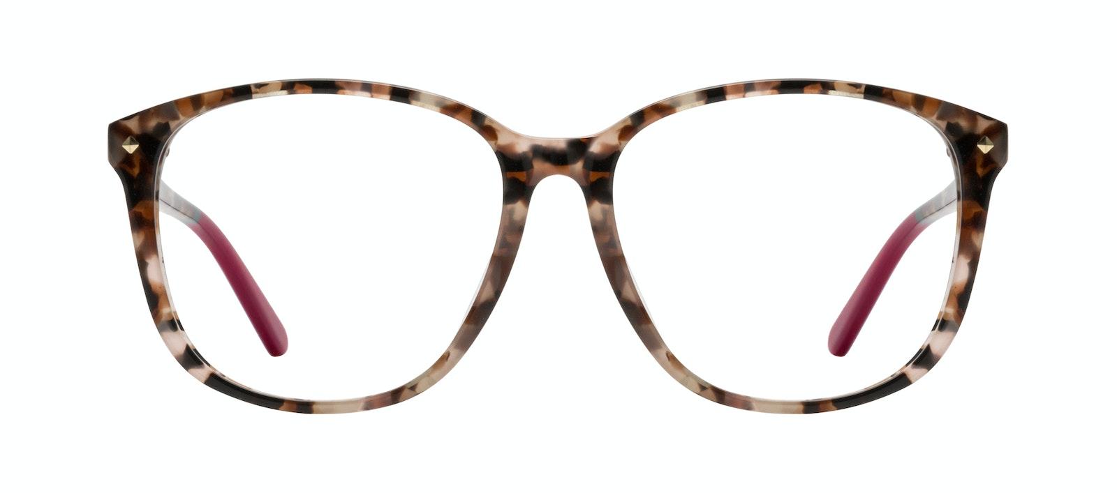 Affordable Fashion Glasses Square Eyeglasses Women Lauren Pink Tortoise Front