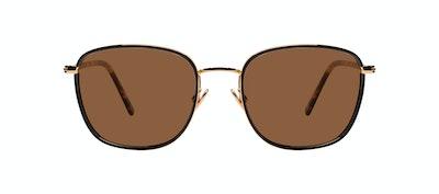 Affordable Fashion Glasses Rectangle Sunglasses Women Lawrence Fusain Front