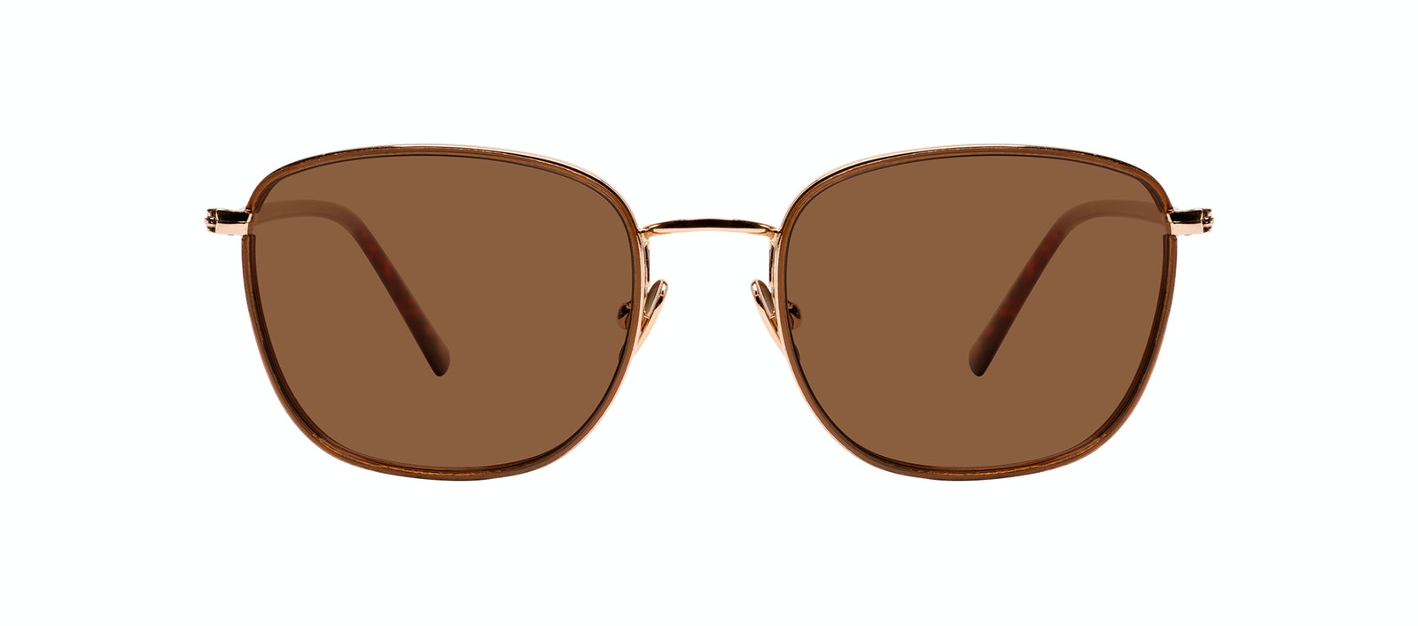 Affordable Fashion Glasses Rectangle Sunglasses Women Lawrence XS Santal Front