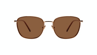 Affordable Fashion Glasses Rectangle Sunglasses Women Lawrence Santal Front
