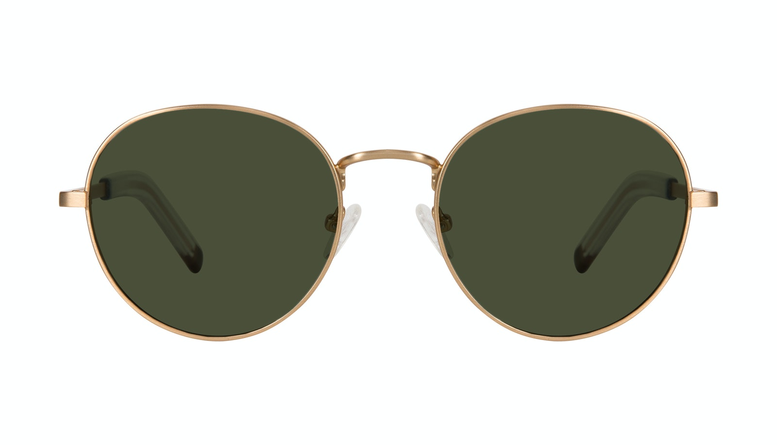 Affordable Fashion Glasses Round Sunglasses Men Lean L Gold Matte