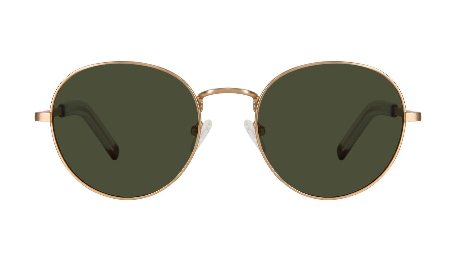 Lunettes tendance Ronde Lunettes de soleil Hommes Lean XL Gold Matte