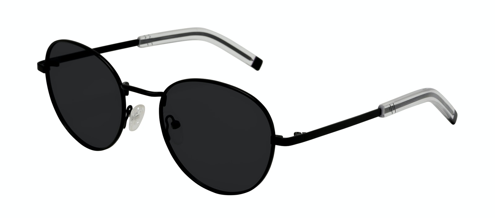 Affordable Fashion Glasses Round Sunglasses Men Lean XL Black Tilt
