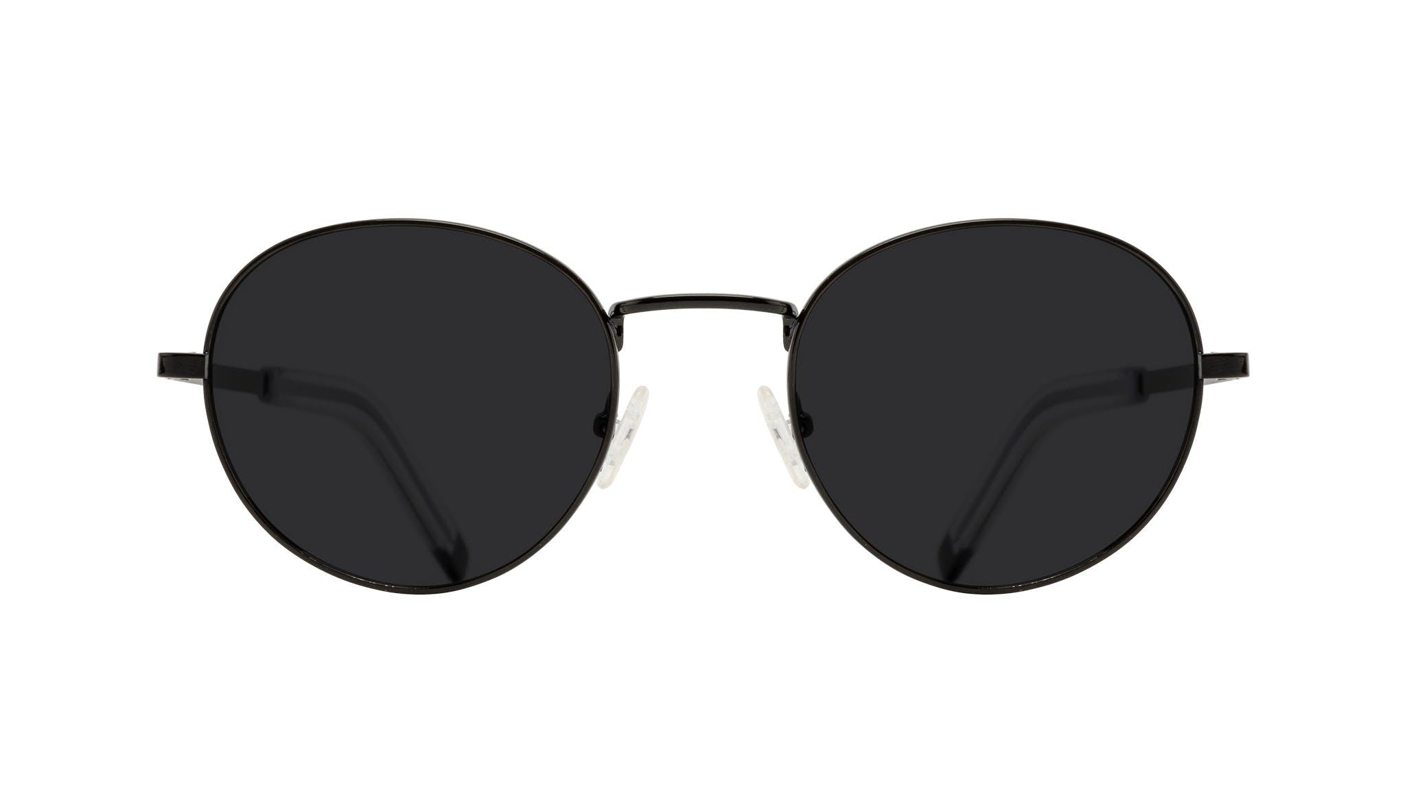 Lunettes tendance Ronde Lunettes de soleil Hommes Lean XL Black