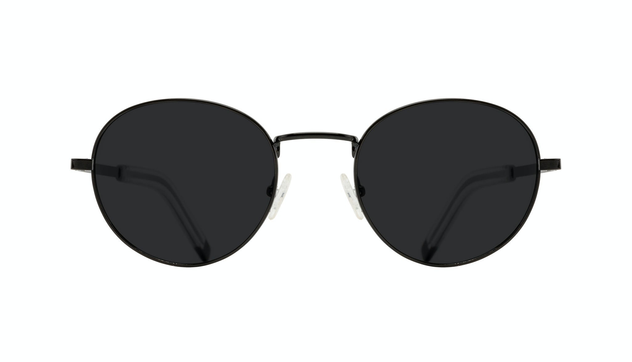 Affordable Fashion Glasses Round Sunglasses Men Lean XL Black Front
