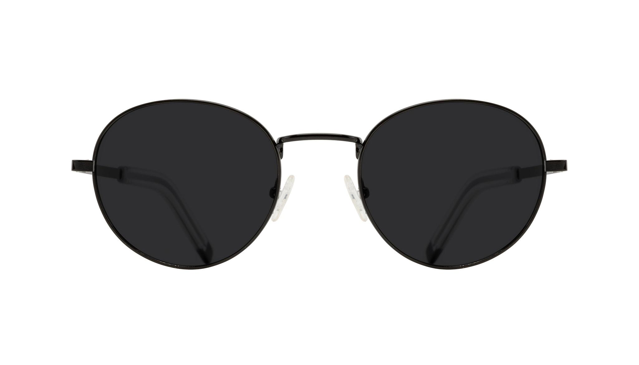 Affordable Fashion Glasses Round Sunglasses Men Lean XL Black Front