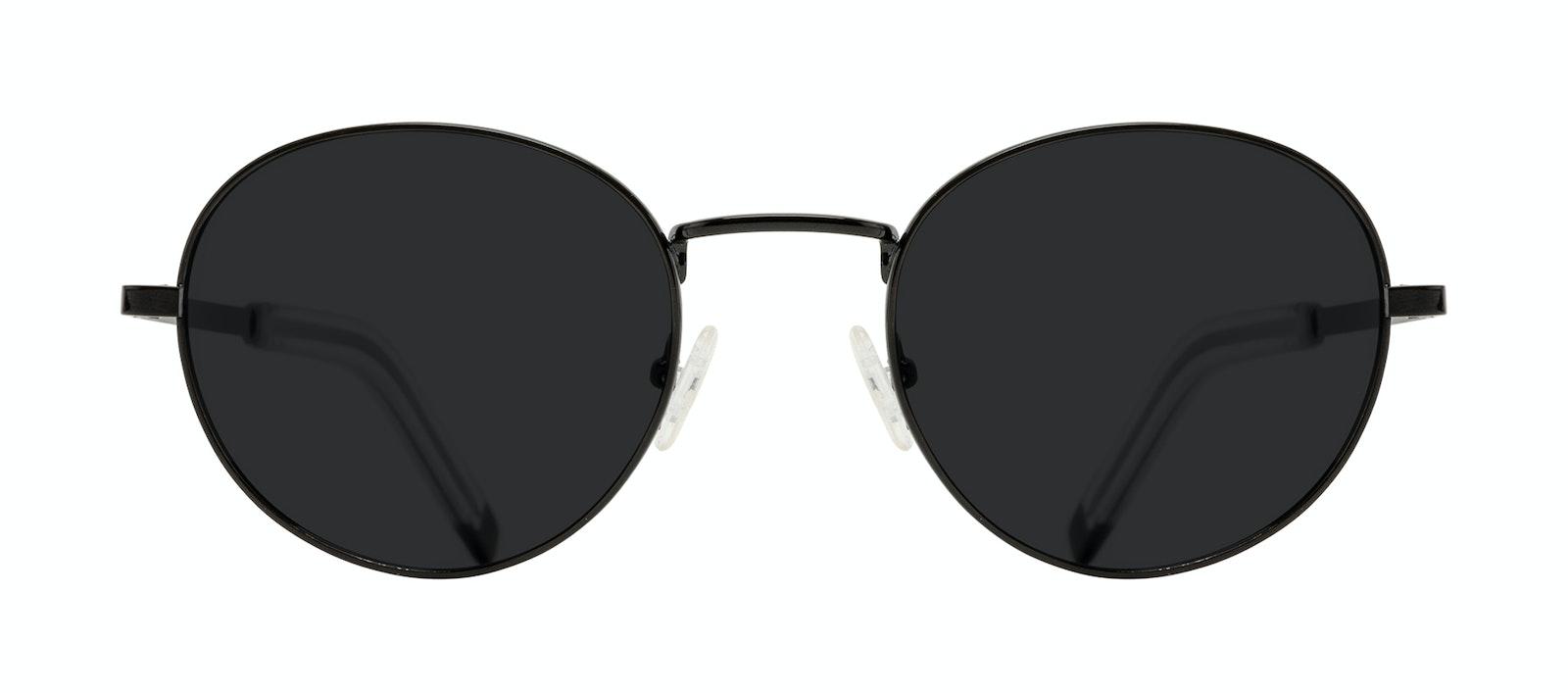 Affordable Fashion Glasses Round Sunglasses Men Lean L Black Front
