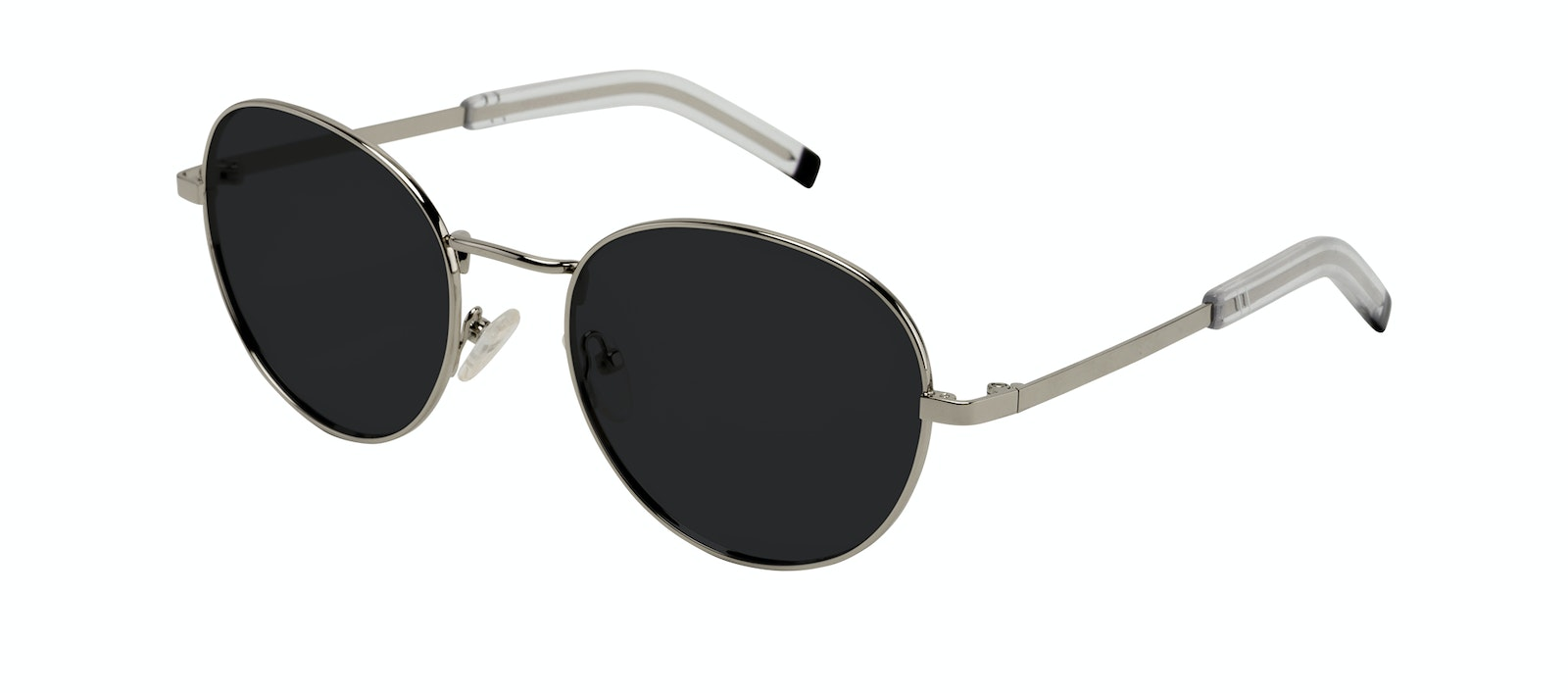 Affordable Fashion Glasses Round Sunglasses Men Lean XL Silver Tilt