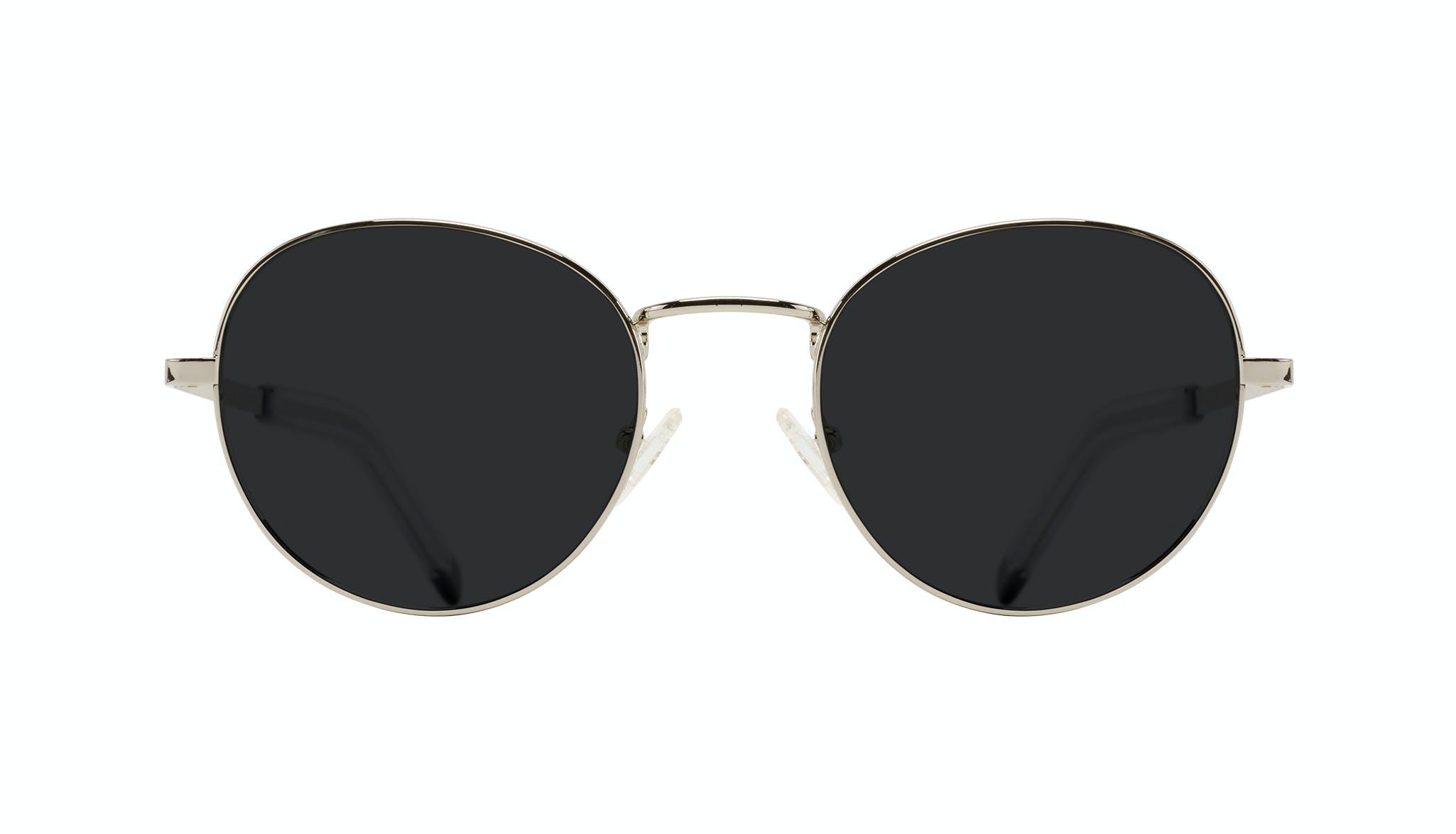 Affordable Fashion Glasses Round Sunglasses Men Lean XL Silver