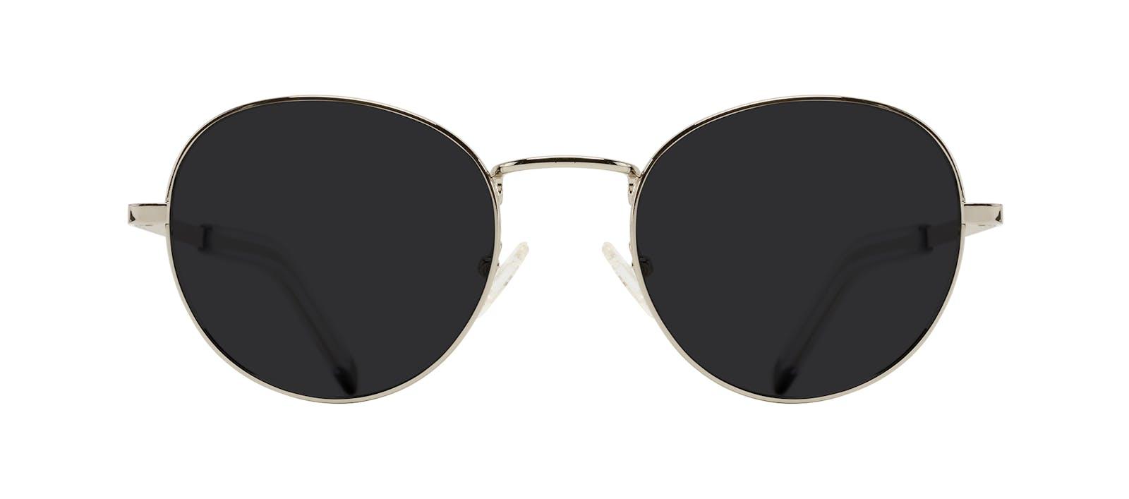 e3e1337cc6 Affordable Fashion Glasses Round Sunglasses Men Lean XL Silver Front