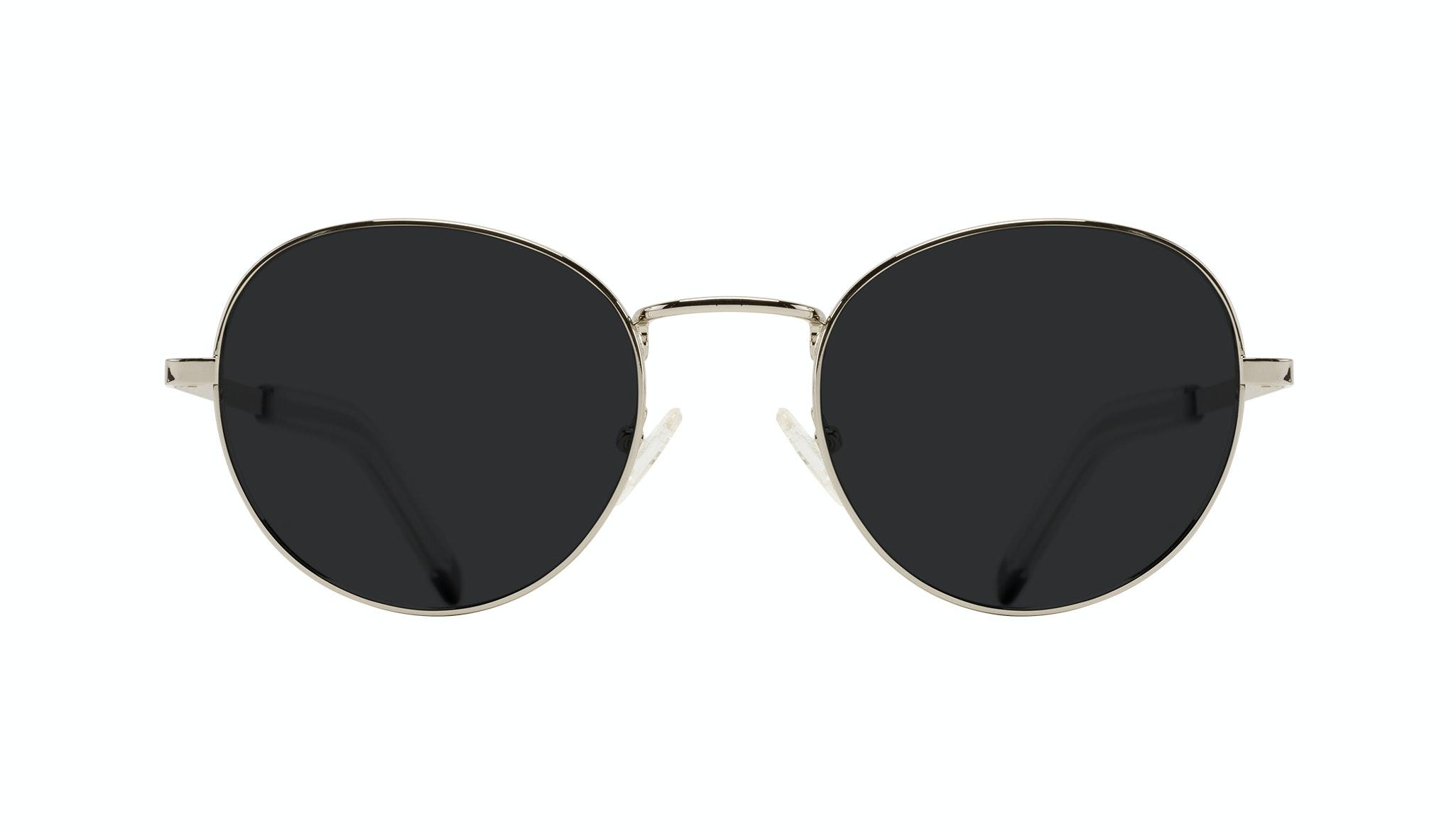Affordable Fashion Glasses Round Sunglasses Men Lean XL Silver Front