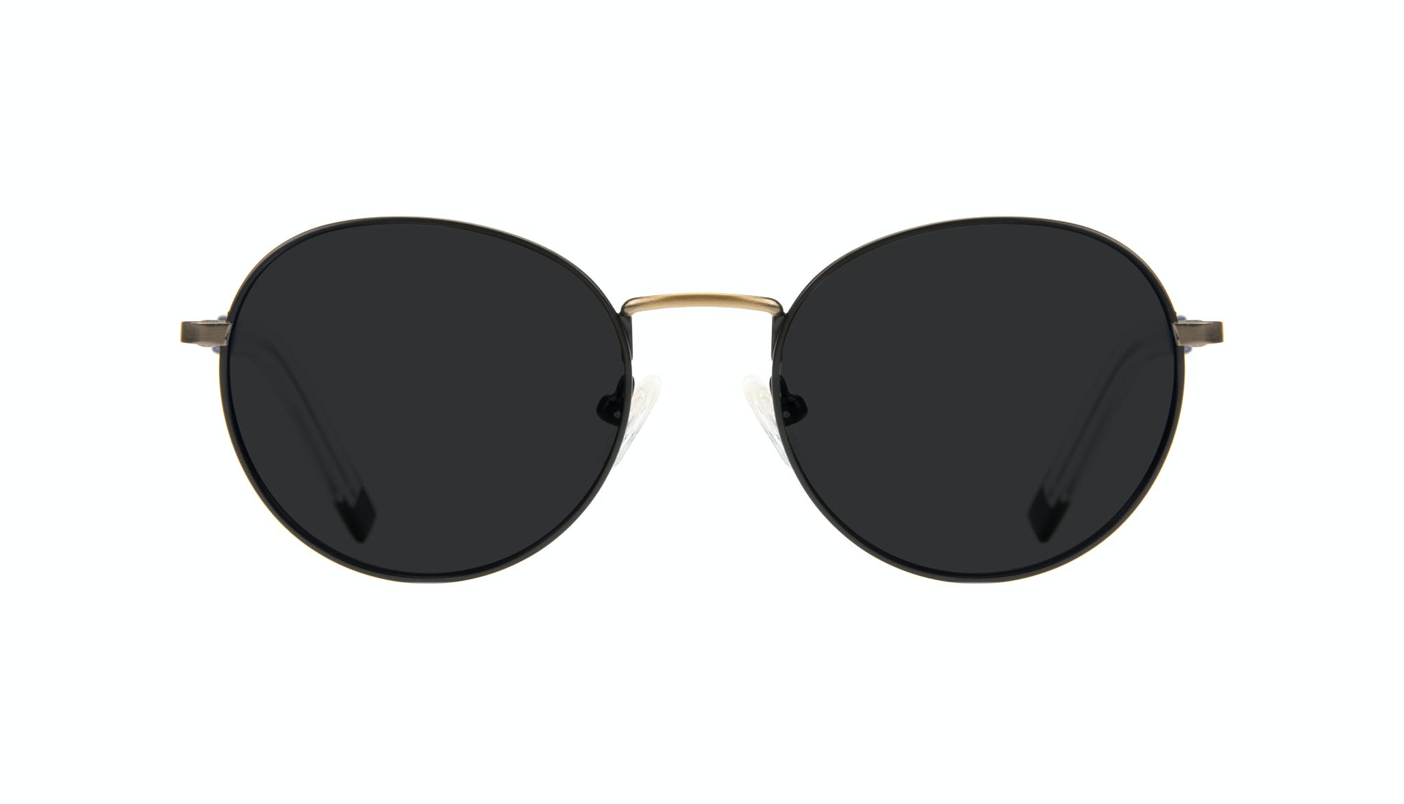 Affordable Fashion Glasses Round Sunglasses Men Lean Dark Brass Front