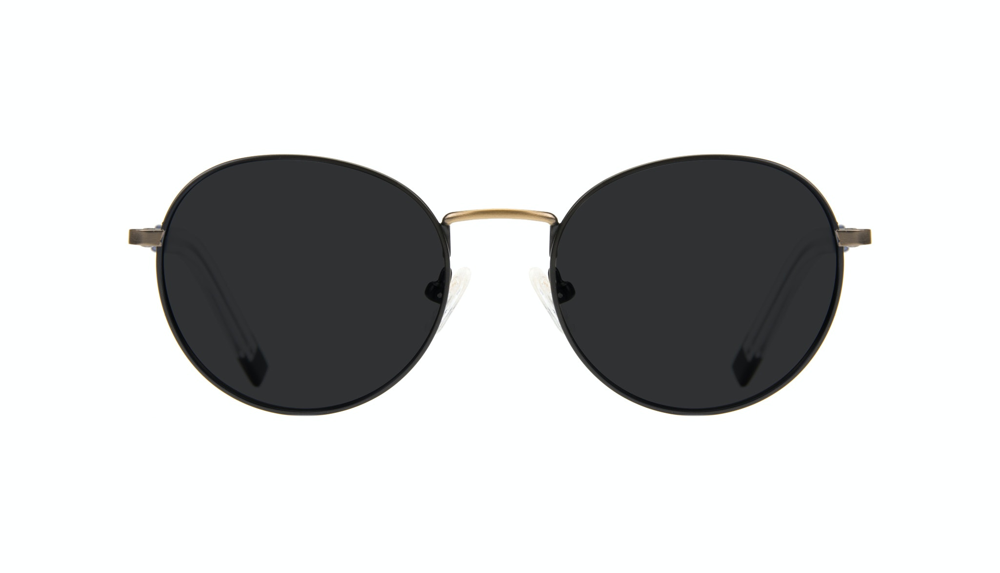 Affordable Fashion Glasses Round Sunglasses Men Lean Dark Brass