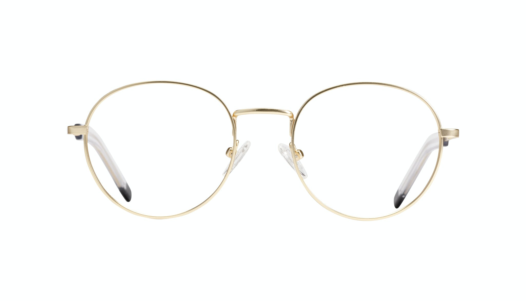 Affordable Fashion Glasses Round Eyeglasses Men Lean Gold Matte