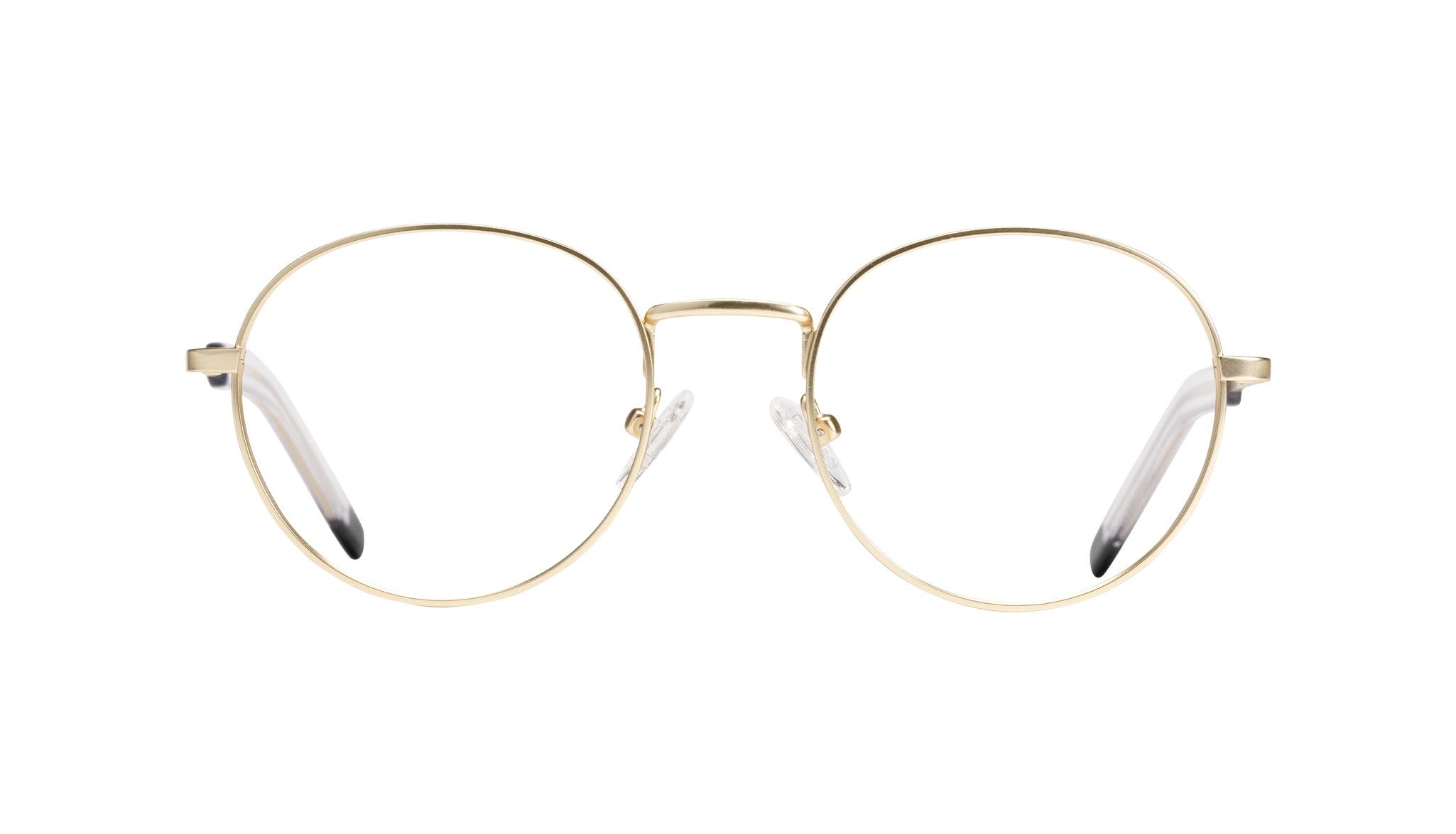 Affordable Fashion Glasses Round Eyeglasses Men Lean Gold Matte
