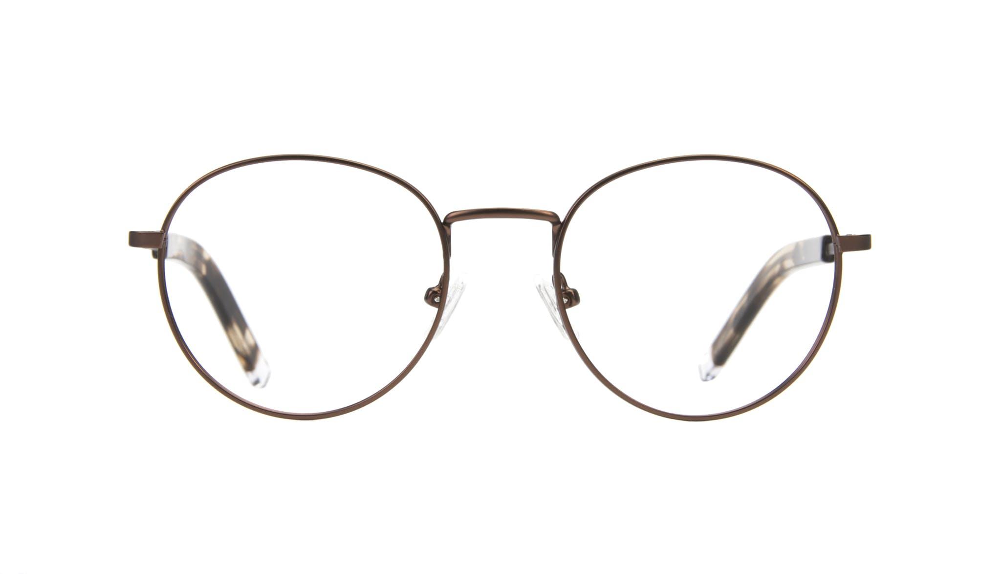 Affordable Fashion Glasses Round Eyeglasses Men Lean Mud Front