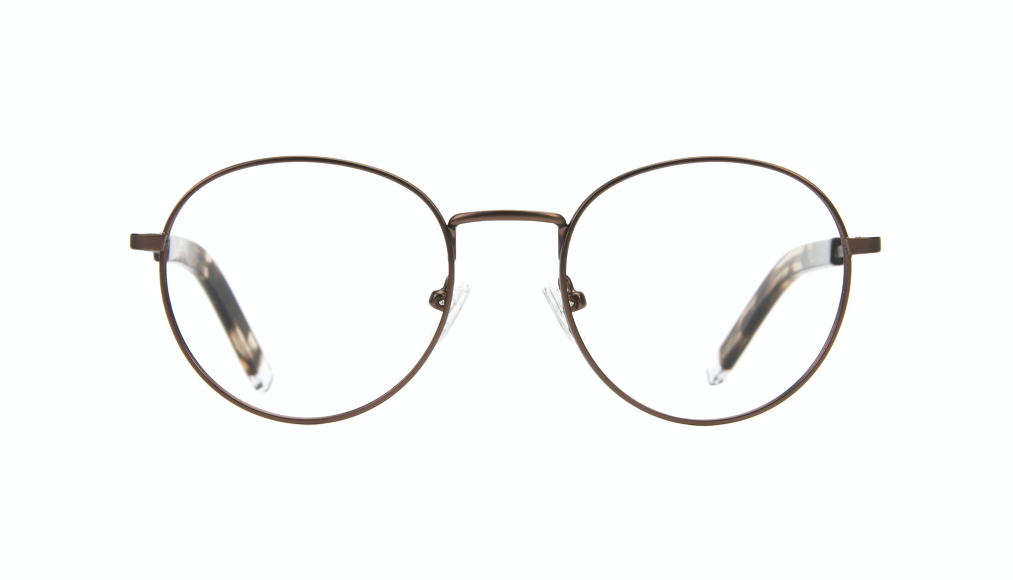 Affordable Fashion Glasses Round Eyeglasses Men Lean Mud Front