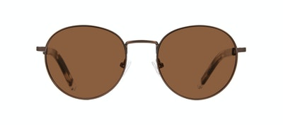 Affordable Fashion Glasses Round Sunglasses Men Lean XS Mud Front