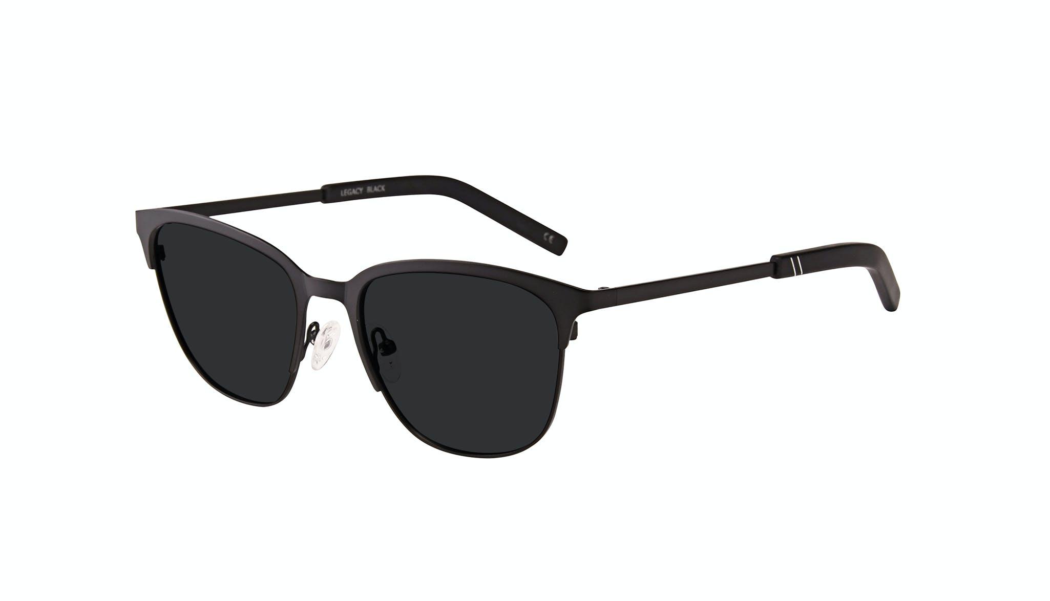 Affordable Fashion Glasses Rectangle Sunglasses Men Legacy Black Tilt