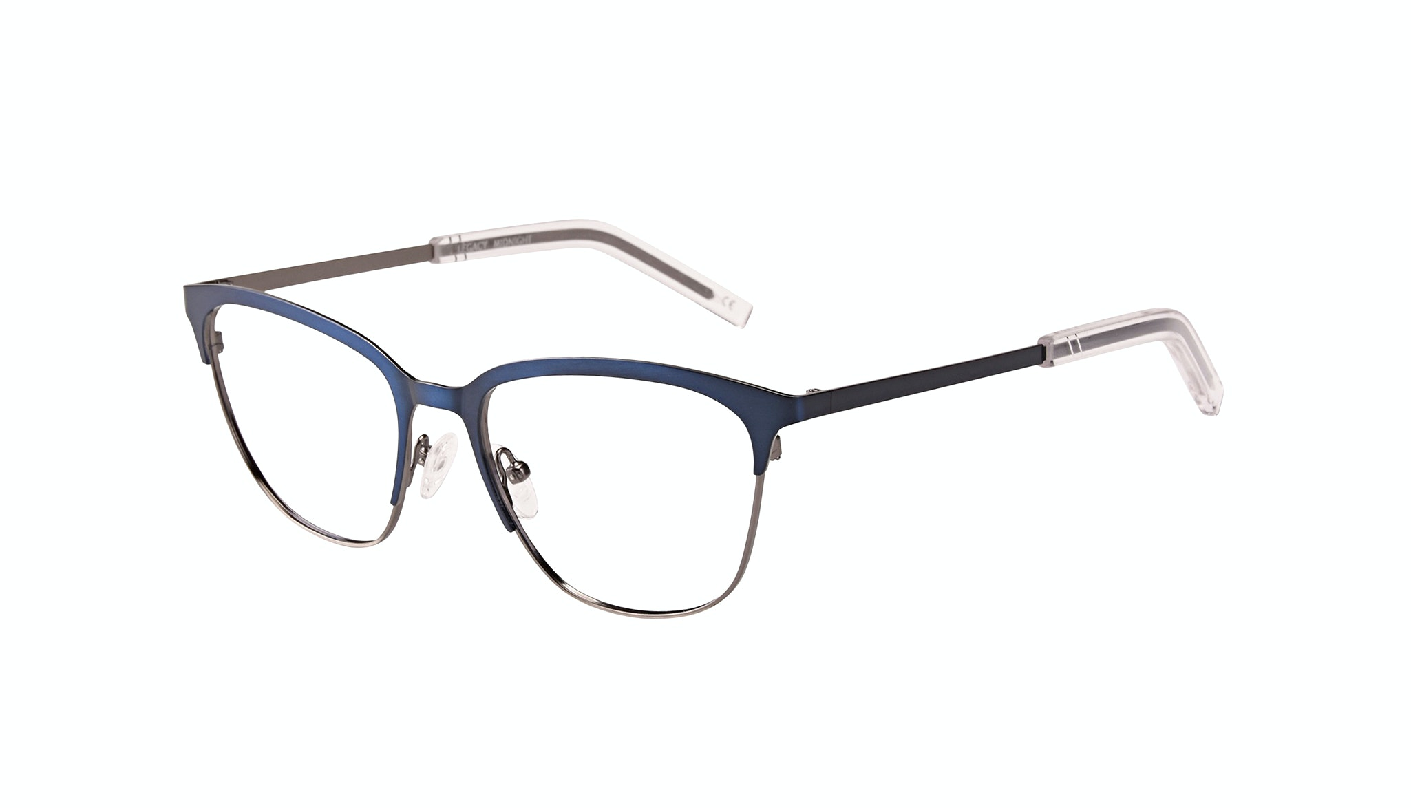 Affordable Fashion Glasses Rectangle Eyeglasses Men Legacy Midnight Tilt