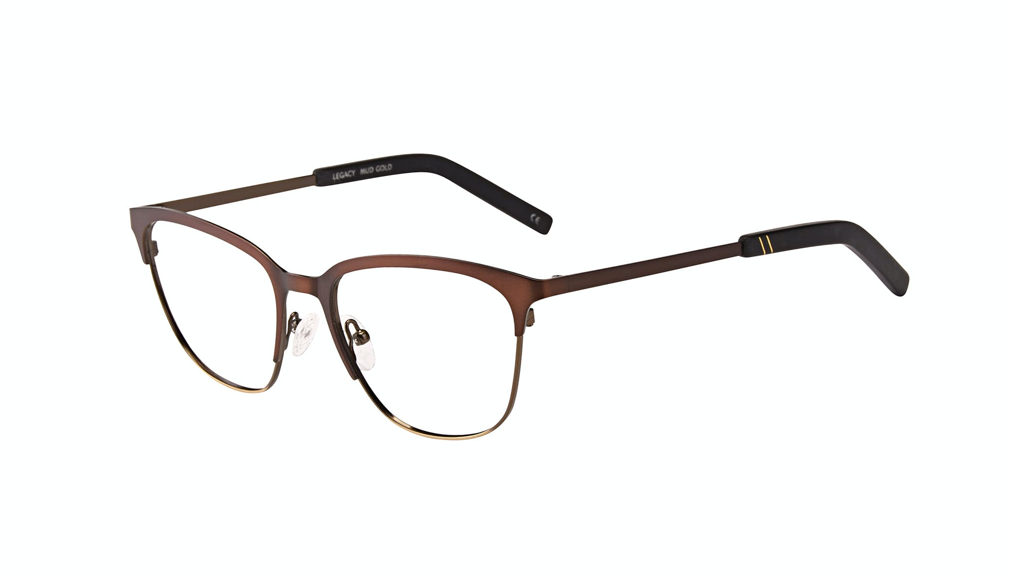 Affordable Fashion Glasses Rectangle Eyeglasses Men Legacy Mud Gold Tilt