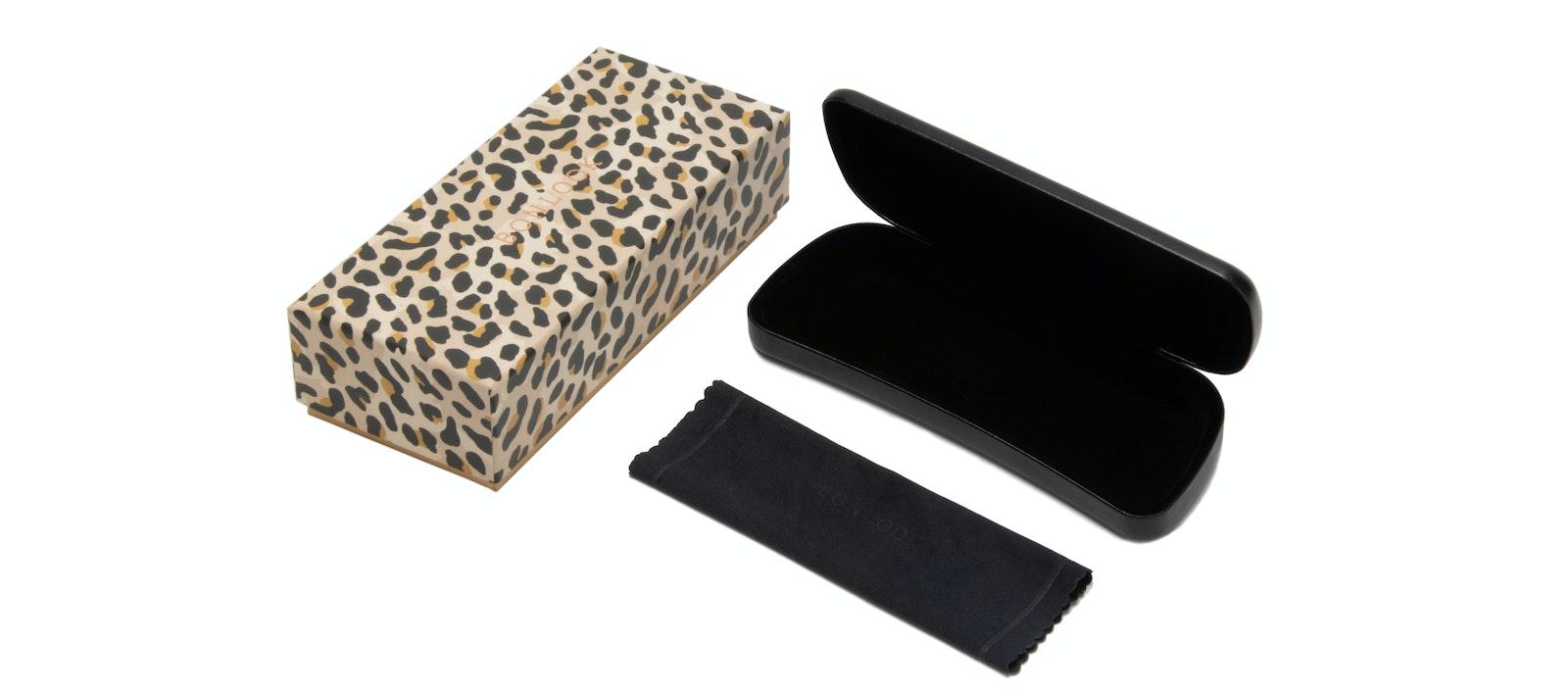 Lunettes tendance Accessoire Hommes Femmes Classic Bonlook Case Leopard Face
