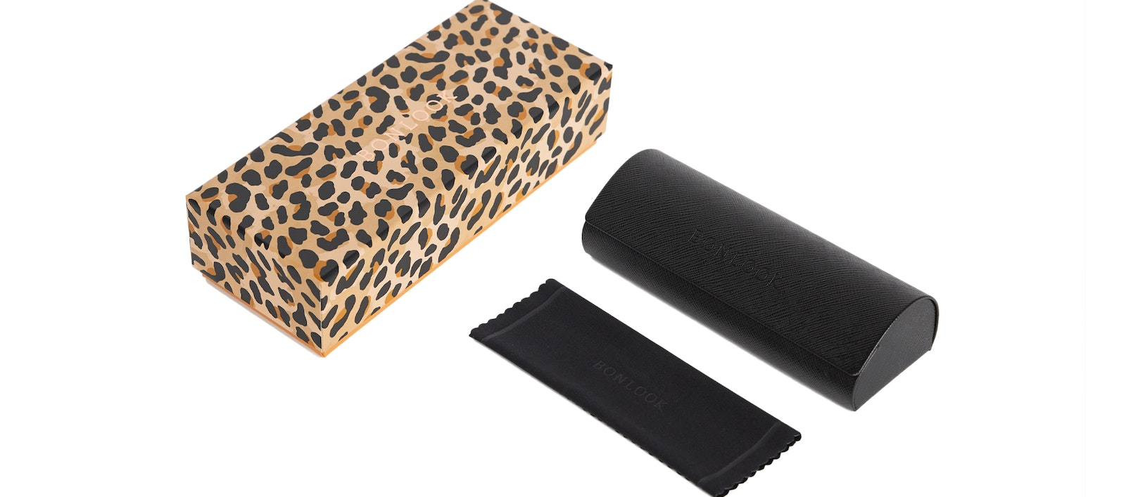 Affordable Fashion Glasses Accessory Men Women New Classic Bonlook Case Leopard Front