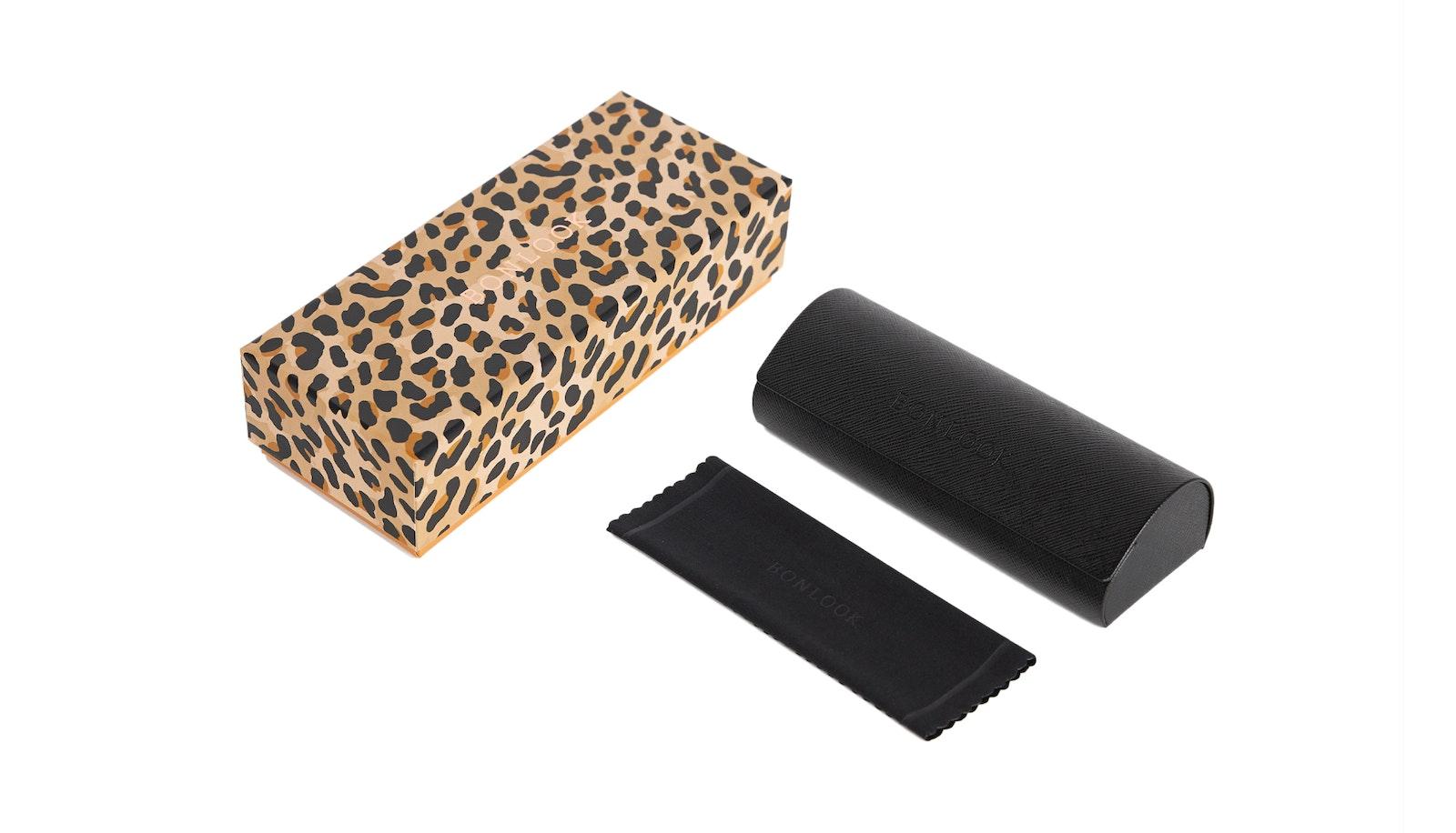 Lunettes tendance Accessoire Hommes Femmes New Classic Bonlook Case Leopard