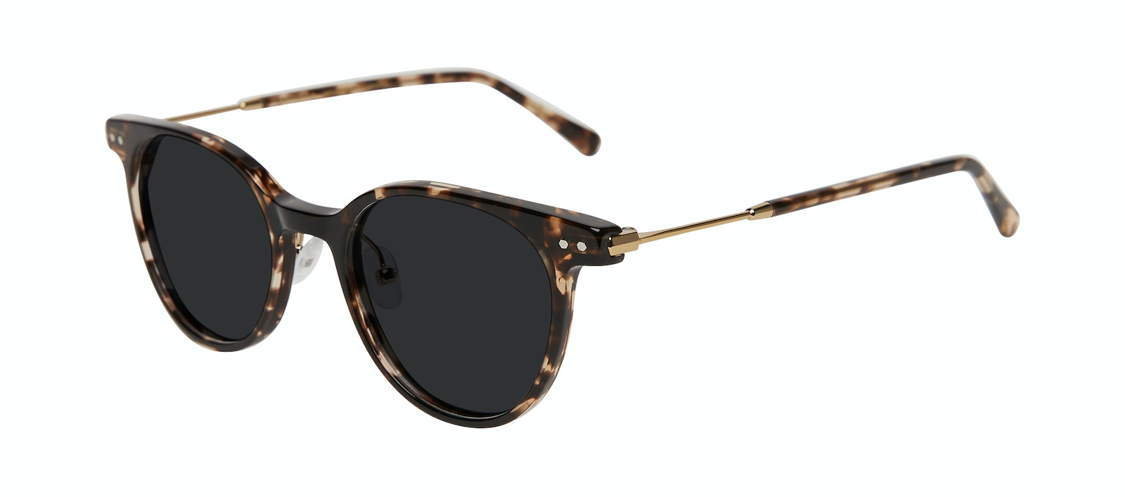 Affordable Fashion Glasses Round Sunglasses Women Lightheart Leopard Tilt