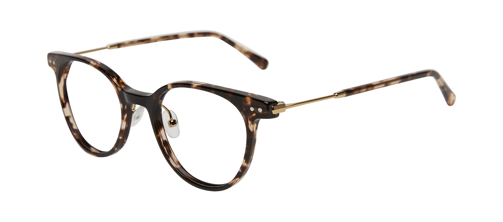 Affordable Fashion Glasses Round Eyeglasses Women Lightheart Leopard Tilt