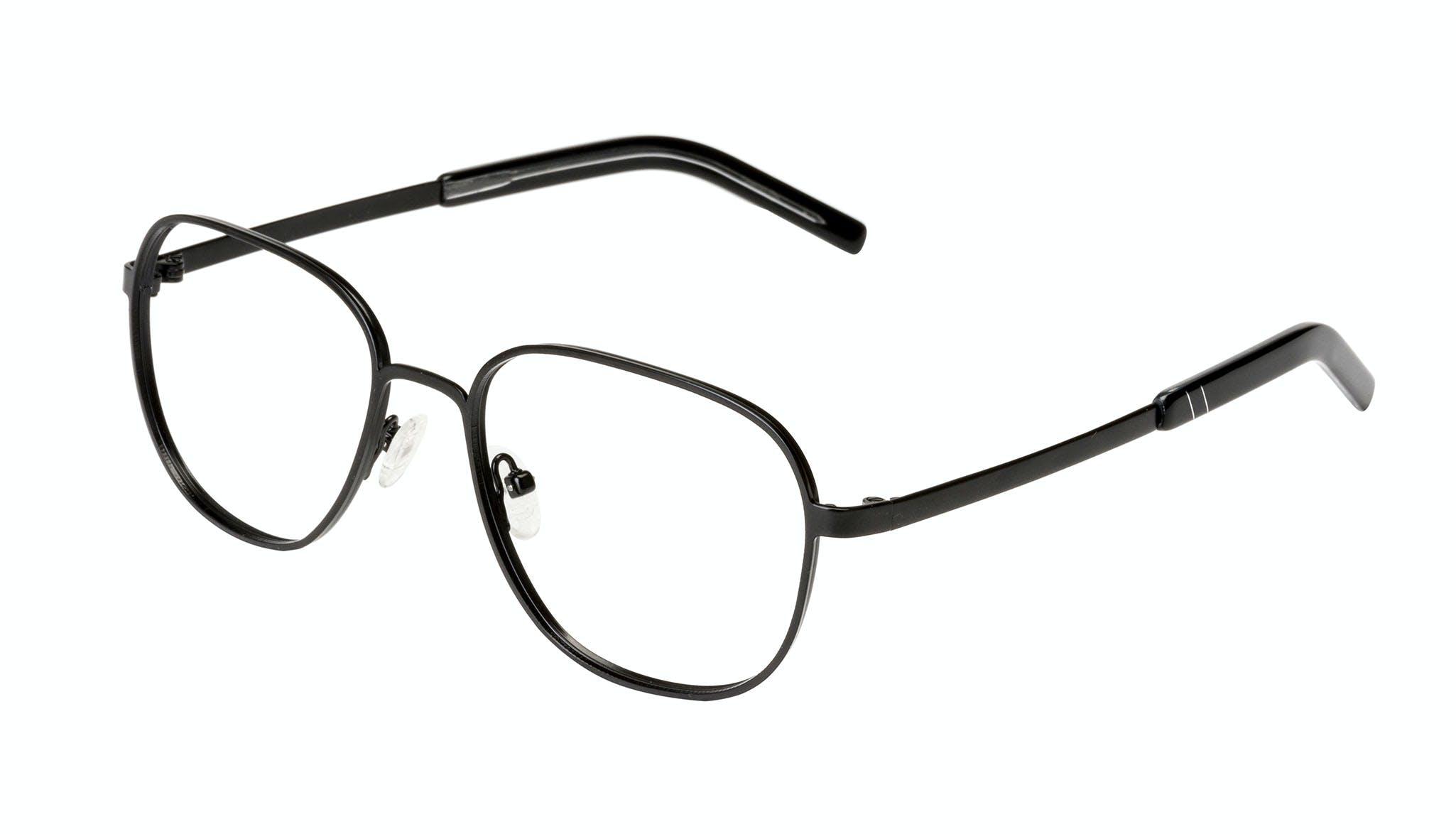 Affordable Fashion Glasses Rectangle Square Eyeglasses Men Line Black Matte Tilt
