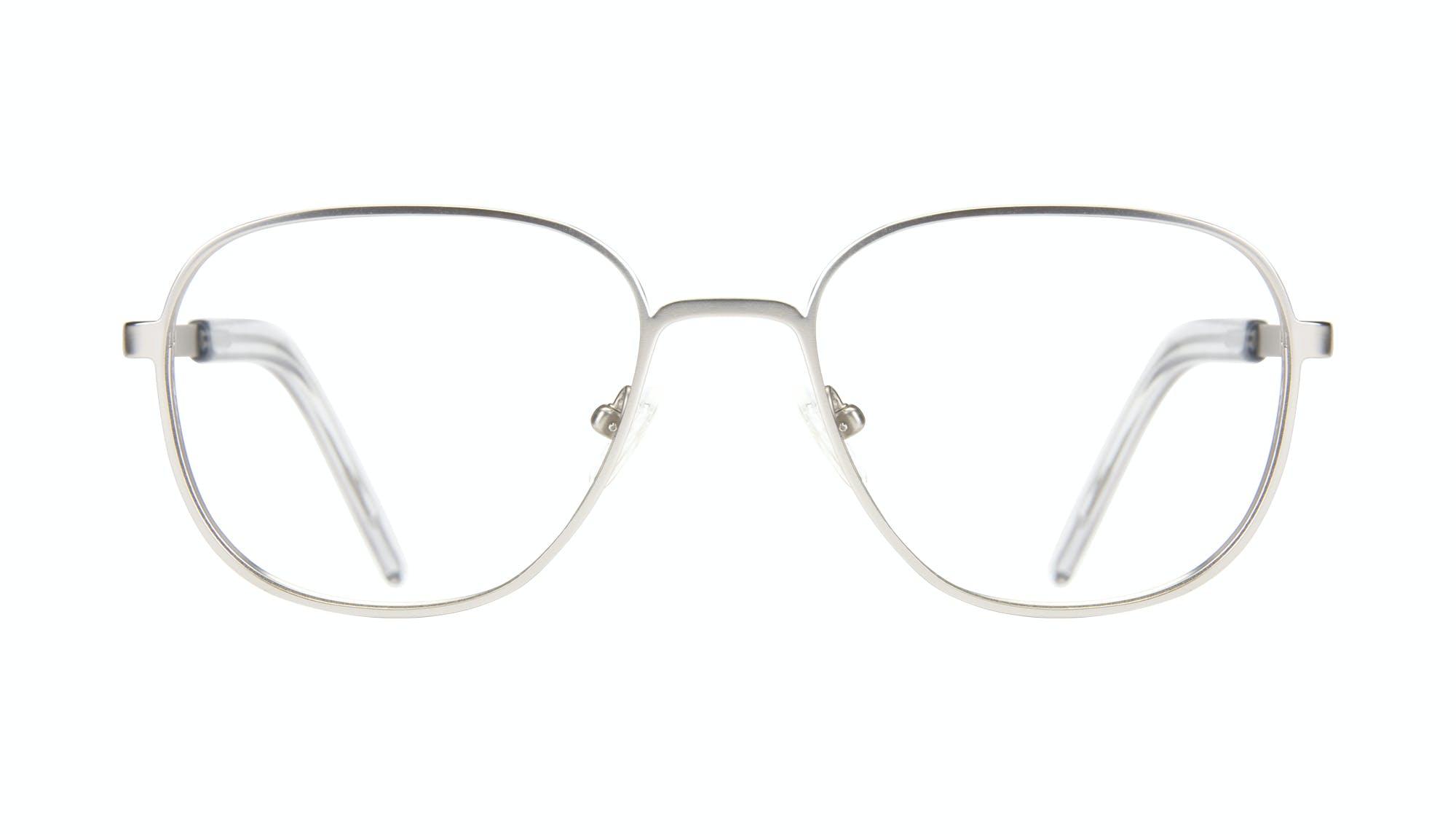 Lunettes tendance Rectangle Carrée Lunettes de vue Hommes Line Silver Matte