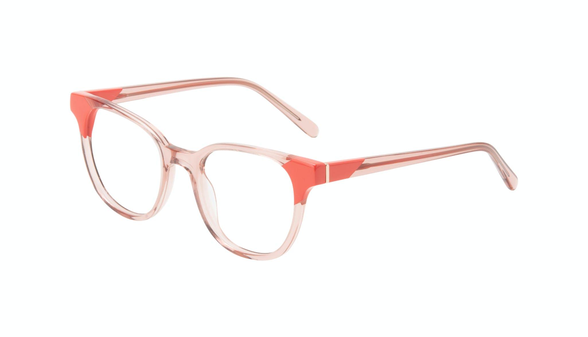 Lunettes tendance Carrée Lunettes de vue Femmes Lively Pink Coral Incliné