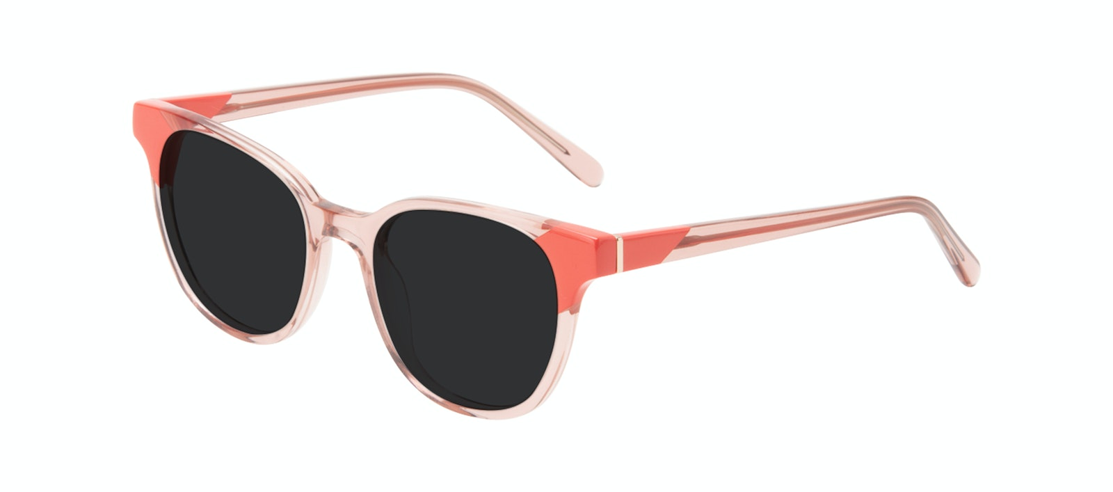 Affordable Fashion Glasses Square Sunglasses Women Lively Pink Coral Tilt
