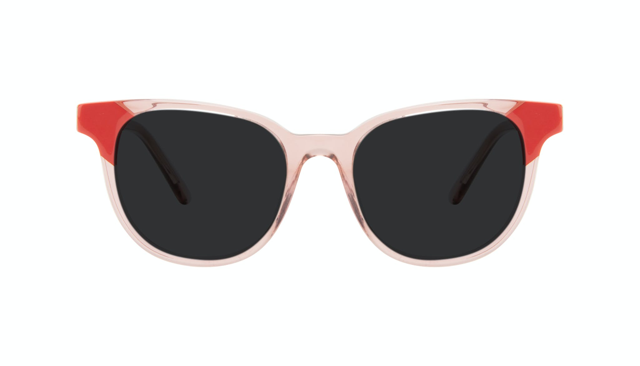 Affordable Fashion Glasses Square Sunglasses Women Lively Pink Coral Front